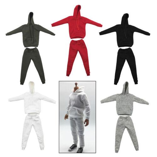 1:6 Men Hooddie Suit Costum for Phicen 12in Figures Doll Accessories Parts