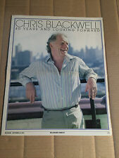 BILLBOARD - SEPTEMBER 29, 2001 - CHRIS BLACKWELL - 40 YEARS AND LOOKING FORWARD