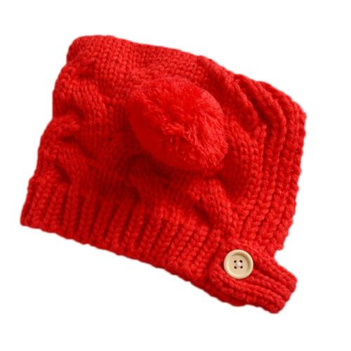 Infant Baby Boy Girl Knitted Embroidery Cartoon Winter Warm Knit Caps Cute Hat