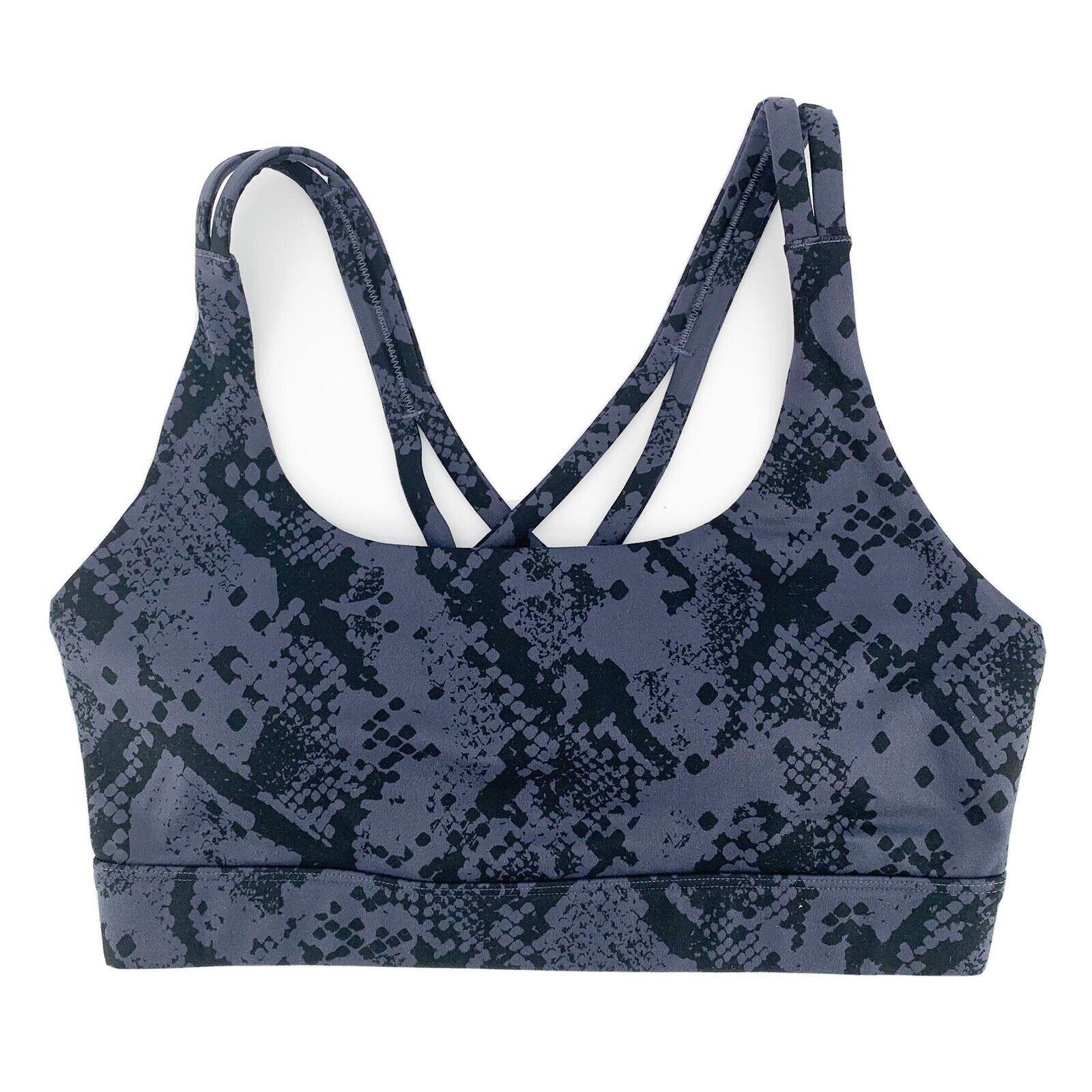 JoyLab Women Sports Bra, NEW Seamless Strappy Odyssey Snake Workout Gym, Size XL
