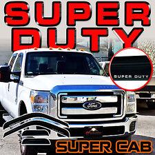 Super Duty 1999-2016 F250 F350 F450 F550 Super Cab Side Window Deflectors Visors