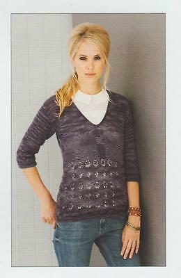 Stylecraft Ladies Sweaters Senses Knitting Pattern 8834 Lace SCP-8834