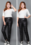 Unisex daunen Hosen Mode lässig Unterseiten Wet-look Nylon warm Größe 3XL-10XL