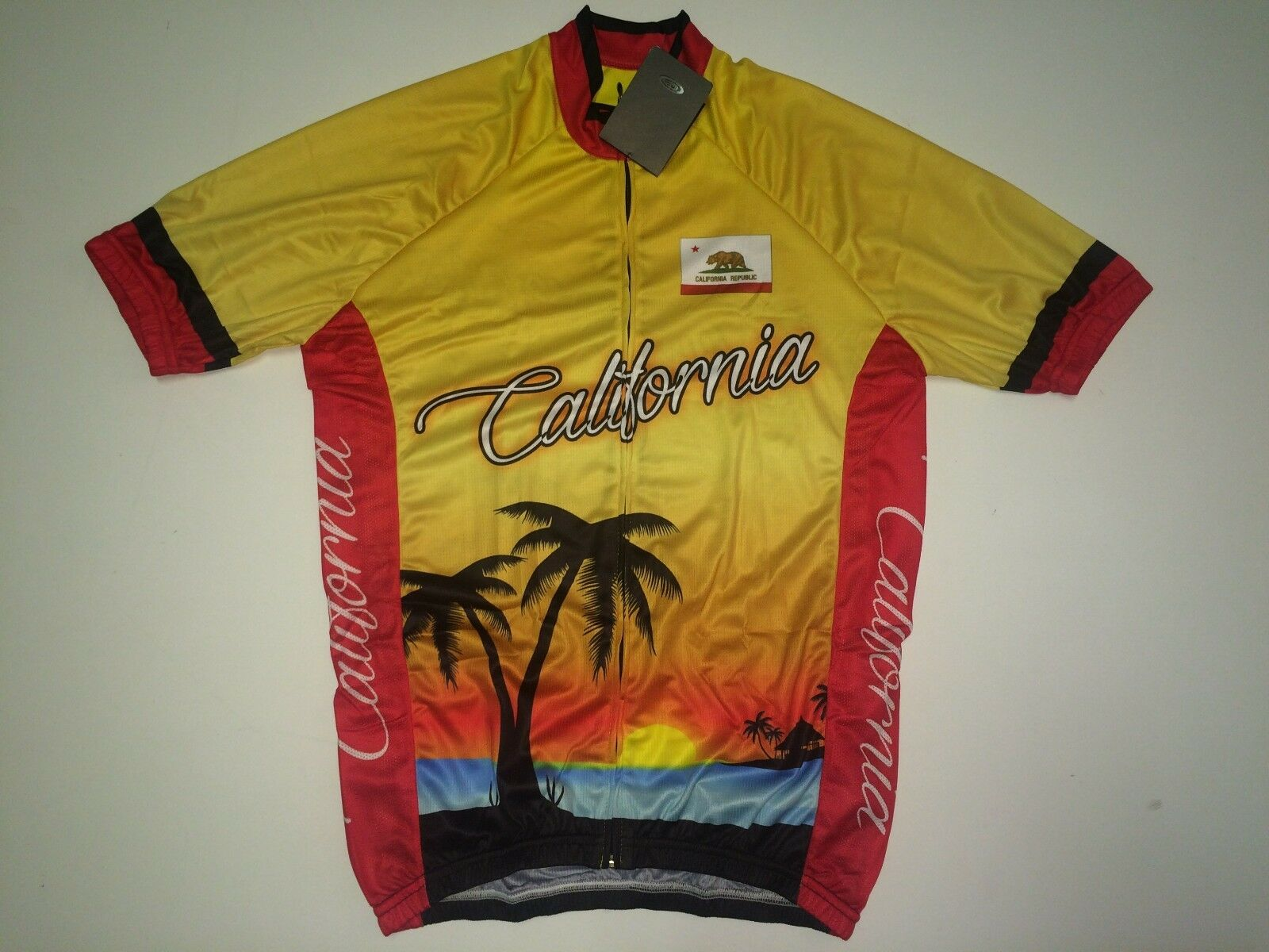 New size Medium   M - CALIFORNIA Republic golden State Road Bike Cycling Jersey