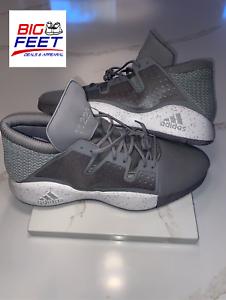 pegatina Monica ladrar  Rare Size 20! Adidas Pro Vision BROOKLYN Basketball 11222 Smoke Gray EE3941  | eBay