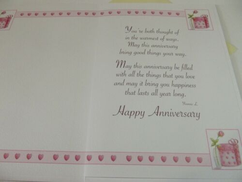 Happy Anniversary To A Dear Sister /& Brother-In-Law............Greetings Card.