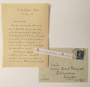 L-A-S-1911-Georges-VALOIS-Darquet-Birsfelden-Suisse-cachet-postal-LAGARDELLE