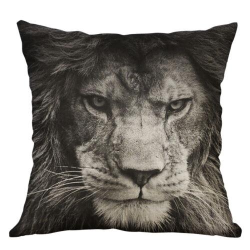 """18/"""" Lion Print Square Home Decorative Throw Pillow Case Sofa Taille Housse de coussin"""