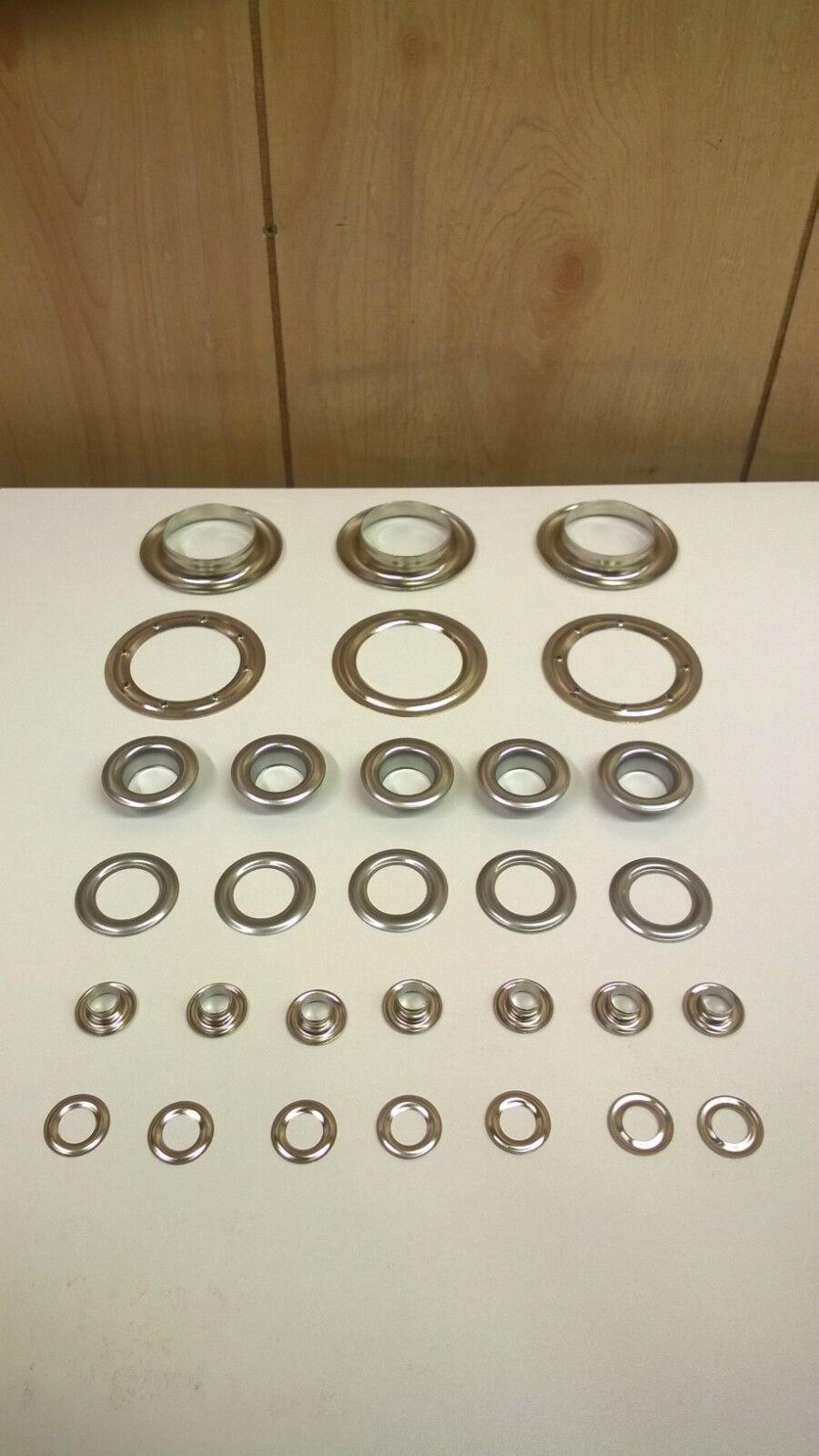 Oeillets Voile acier inoxydable VL 40 vl 50 vl 60 vl 80 - Lot de 50 pièces