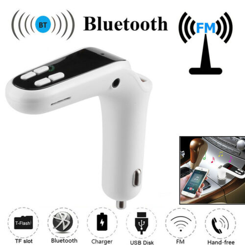 Car FM Transmitter Bluetooth Handsfree LCD MP3 Players Radio Adapter Kit Charger