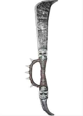 Spiked Skull Sword Medieval Toy Weapon Dress Up Halloween Costume Accessory