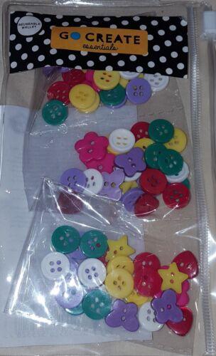 Go crear Essentials 84 botones en una cartera Reutilizable libre P/&p nuevo