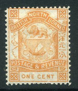 NORTH BORNEO; 1889 early classic issue fine Mint unused 1c. value