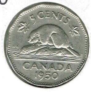 1950-Canadian-Circulated-George-VI-Five-Cent-Coin