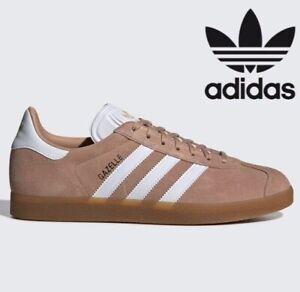 personalizado enjuague Matar  🔥 Adidas Originals GAZELLE Leather ® ( Men Sizes UK : 7 - 12 ) Ash Pearl  Khaki | eBay