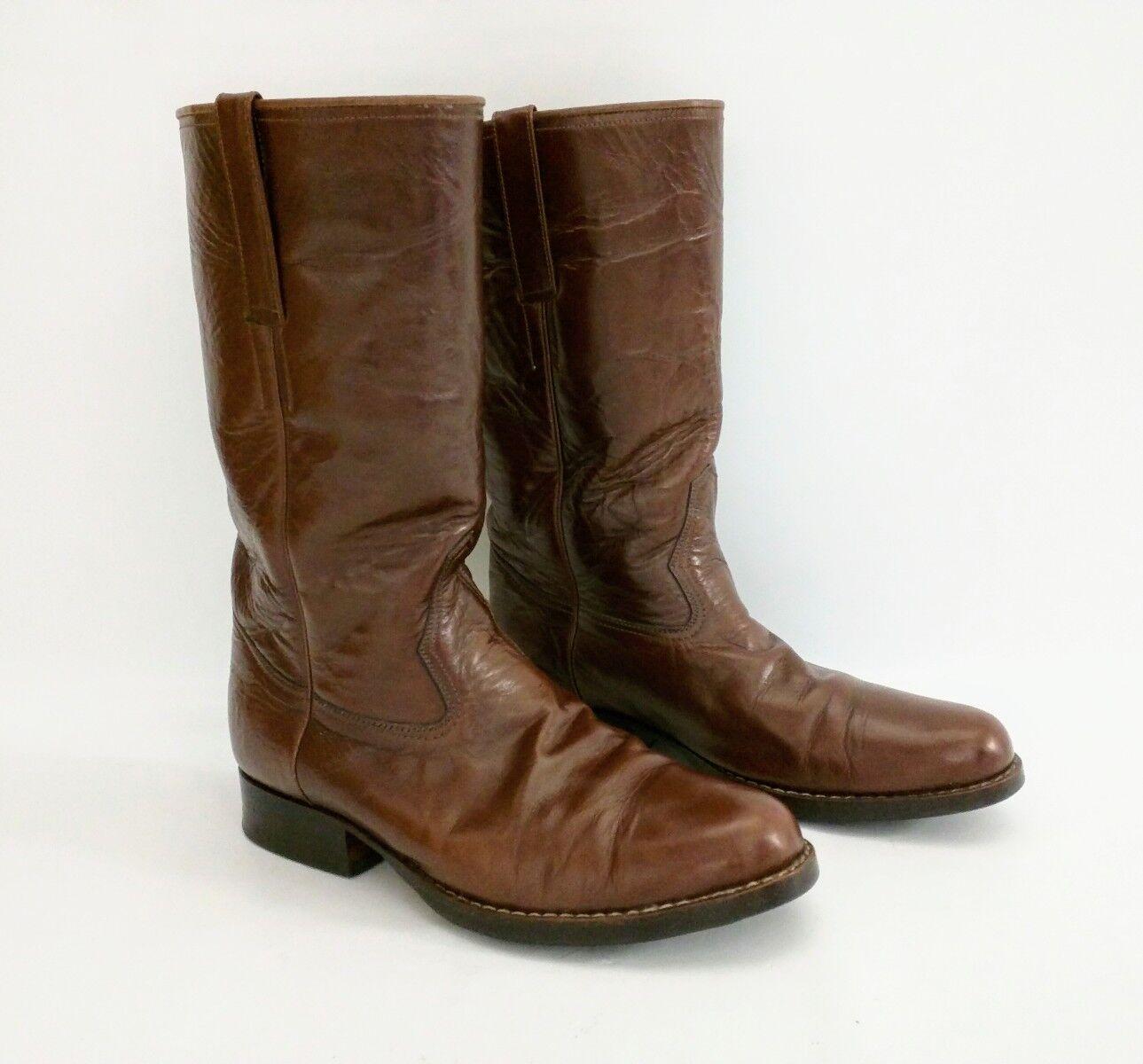 LA MUNDIAL Brown Leather RIDING Boots SIZE 9D