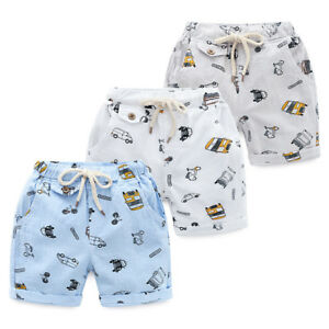New Kids Boys Beach Shorts Cotton Sport Short Pants Summer Casual Short  Trousers | eBay