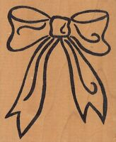 Bow Outline Hot Potatoes Wood Mounted Rubber Stamp 3 1/2x 4 Free Shipping