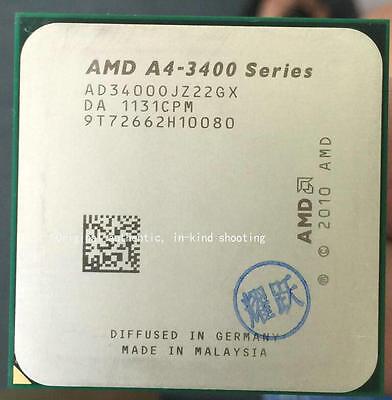 AD3400OJZ22HX AMD Fusion A4-3400 2.7GHz Dual-Core Processor FM1