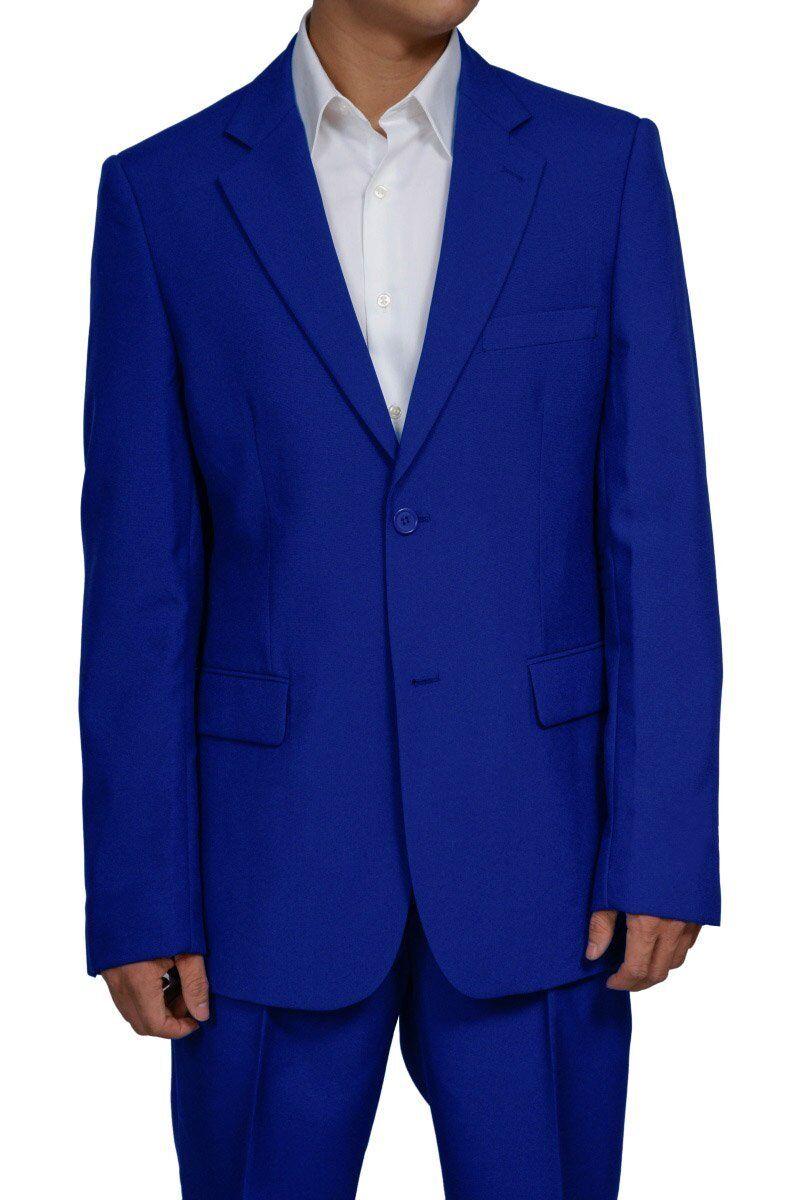 Men's 2 Button Royal bluee Dress Suit