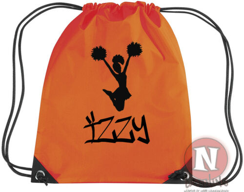 Team goals PE school add child/'s name Personalised Cheerleader sports kit bag