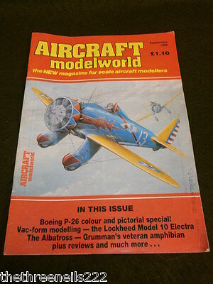 AIRCRAFT MODELWORLD - BOEING P-26 - SEPT 1985