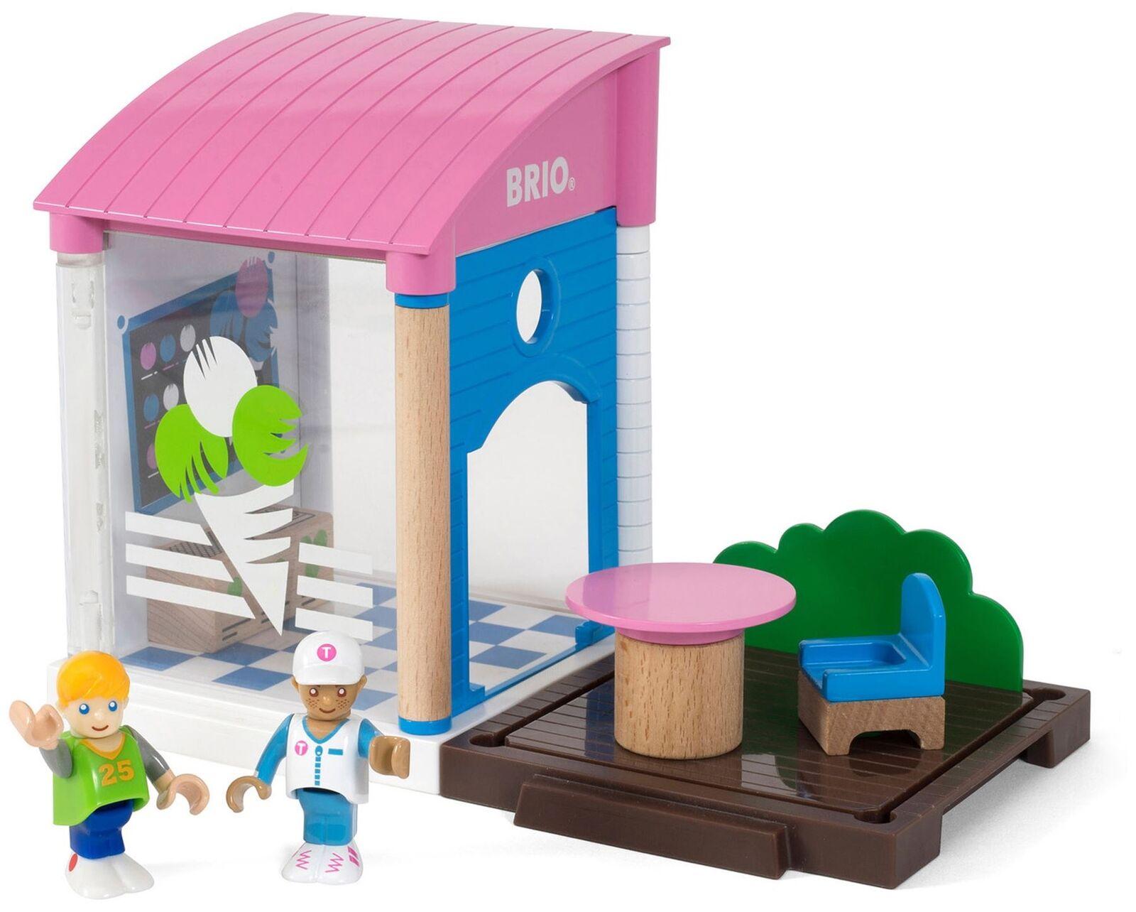 Brio ICE CREAM SHOP Wooden Toy Figures BN
