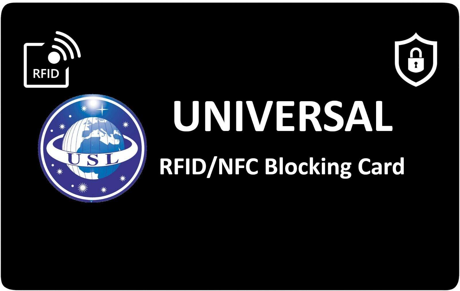 2 x RFID Blocking Credit Card Protector NFC Contactless Signal Blocker