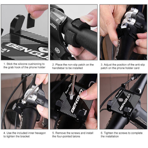 Aluminum Motorcycle Bike Bicycle Holder Mount Handlebar For Cell Phone GPS US