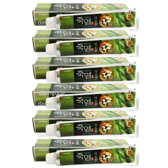140g x 6 LG Oriental dentist Bamboo Salt Toothpaste Organic Herbal therapy
