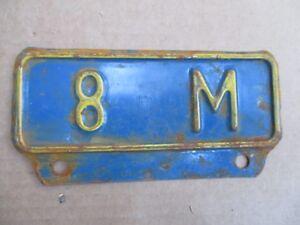 Vintage-Kansas-License-Plate-Topper-8M-Truck-GMC-Ford-Dodge-Chevy-International