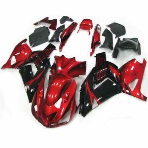 Fairing-Bodywork-For-Kawasaki-ZX14R-ZZR1400-2006-2007-2008-2009-2010-2011-Red