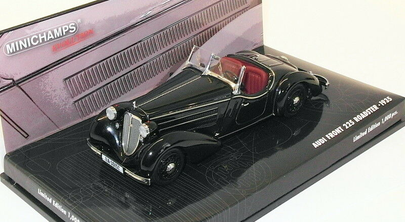 MINICHAMPS 1 43 scale model 437 019131 - 1935 AUDI Front 225 Roadster-Noir