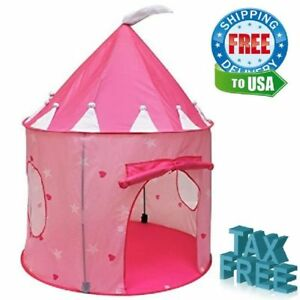 Image is loading Princess-Play-Pink-Tents-Castle-House-Toy-for-  sc 1 st  eBay & Princess Play Pink Tents Castle House Toy for Girls and Toddlers ...