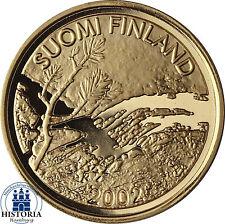 Finlandia 100 euro Oro 2002 pp moneda de oro sol de medianoche minería Laponia