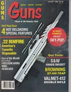 Details about Vintage Magazine *GUNS* August, 1980 !!! BROWNING Model  ST-100 TRAP GUN !! /q8