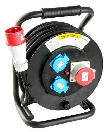 Kabeltrommel 380V 16A  20m hochwertig Elektrokabel Verlängerung KH20M25P3 01652