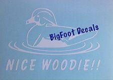 Hunting Decal Nice Woodie Duck Hunter Mallard Shooting Truck Window Sticker
