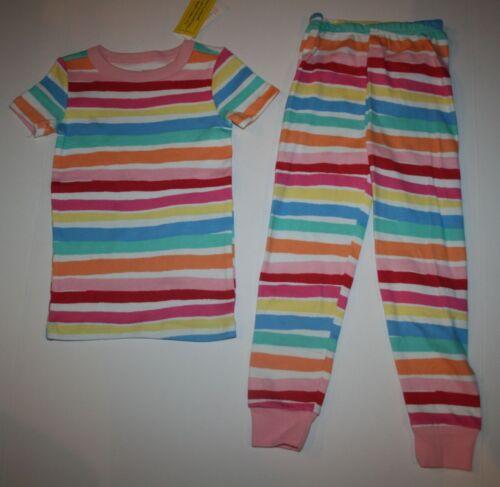 NEW Gymboree Girls Gymmies Pajamas PJs 2 Piece Rainbow Stripes 3 4 5 6 7 8 10 12