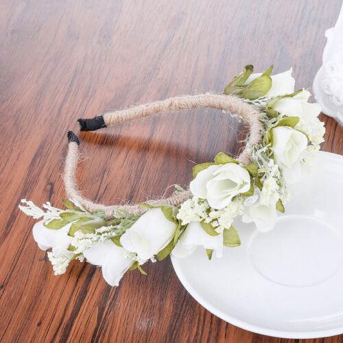 Women/'s Flower Headband Hairband Wedding Hair Crown Bride Garland Wreath Beach