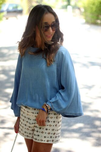 paillettes Taglia ricamati e Pantaloncini M rilievo Bloggers perline in Zara con con ricamati L RnA6vwxxUq