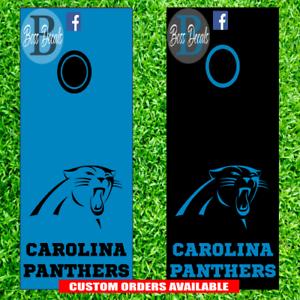 Carolina Panthers Cornhole Board Decal Set Of 6 Vinyl Decals Sticker