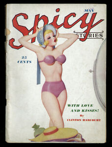 Complete-Spicy-Pulp-Magazine-Enoch-Bolles-Pin-Up-Cover-Spicy-Stories-May-1938-NR