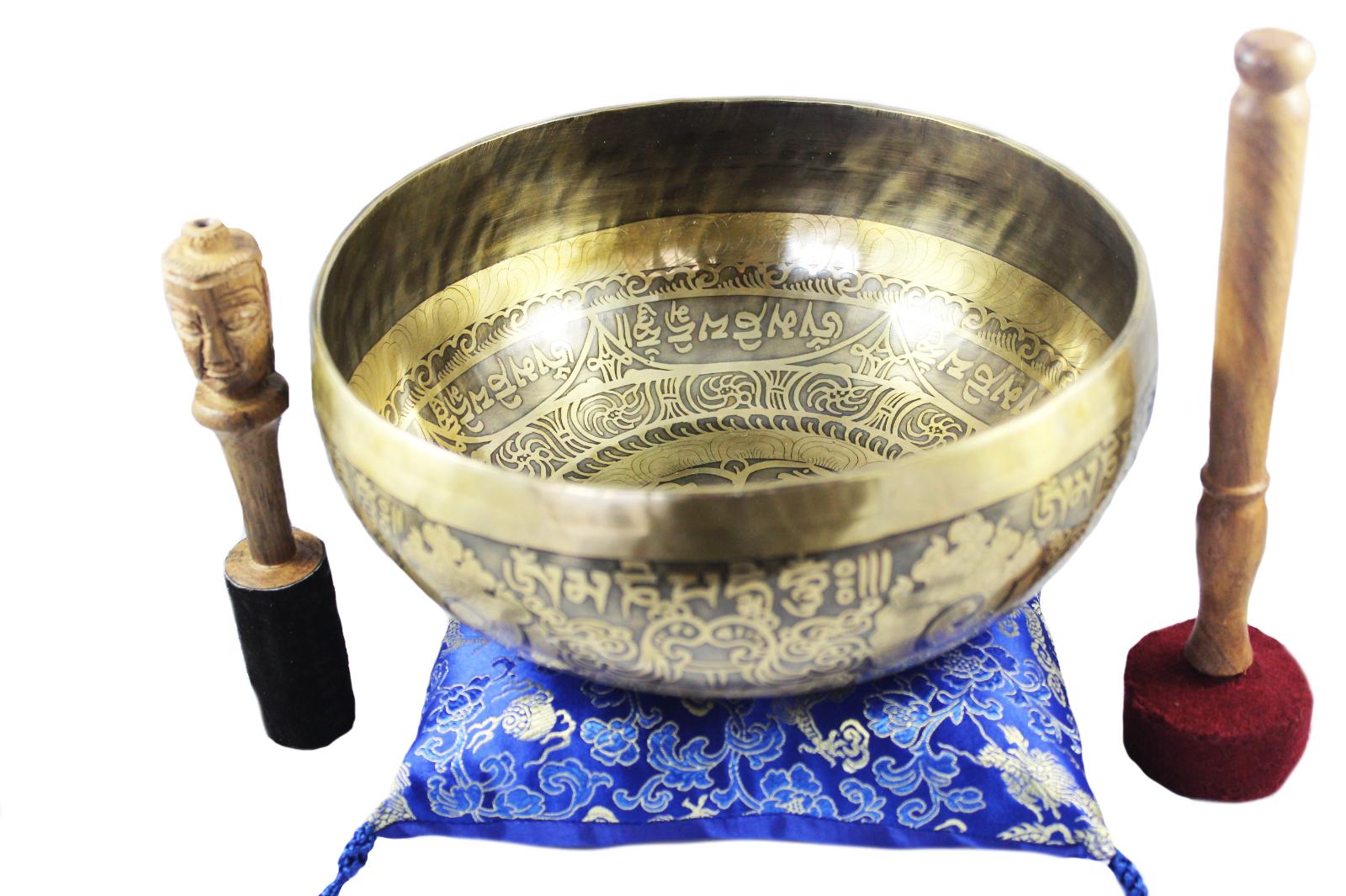 9 Om Mandala TibetanSinging Bowl SetPromotes PeaceChakra HealingMindfulness
