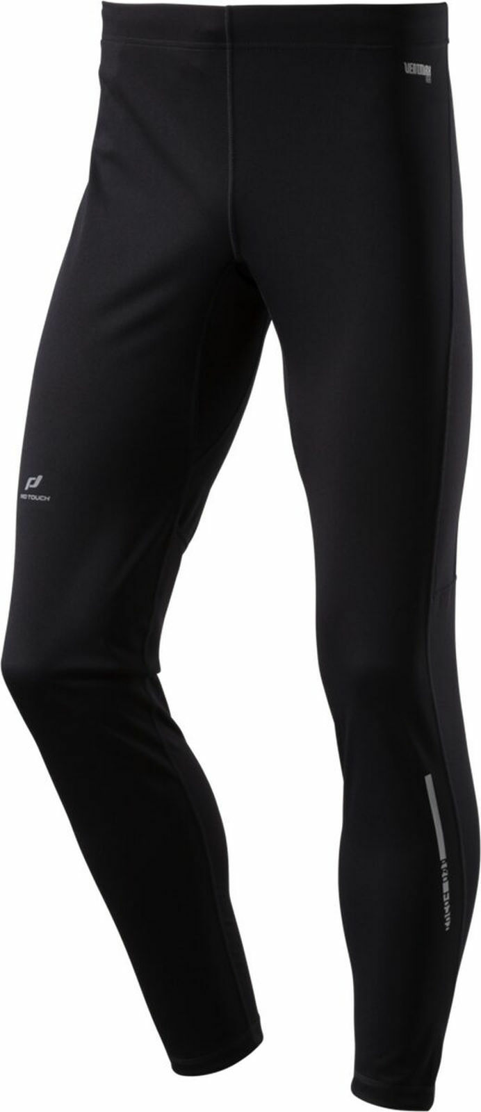 Pro Touch Herren Laufhose Tight lang brushed Windstopper Silo schwarz