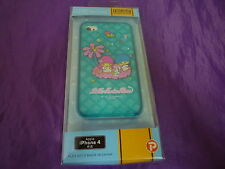 VINTAGE SANRIO LITTLE TWIN STARS CLEAR BLUE SOFT RUBBER CASE COVER IPHONE 4