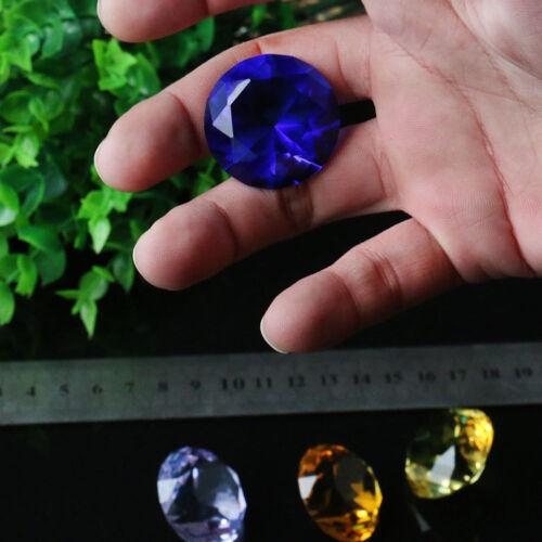 6Pc 30MM Rainbow Cut Glass Crystal Diamond Paperweight Wedding Party Jewel Decor