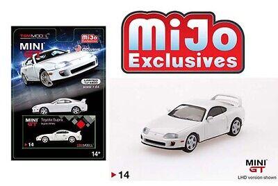 Mini GT 1:64 Mijo Exclusives Toyota Supra Super White JZA80