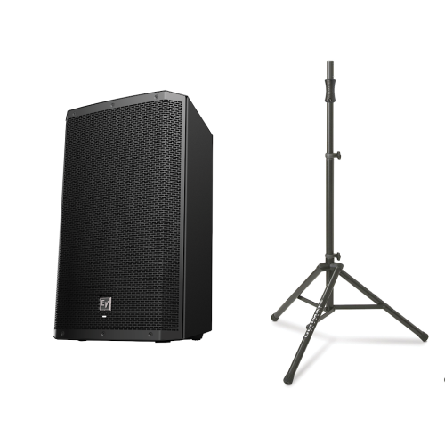 Electro Voice ZLX15BT Active Blautooth Speaker w  TS-100B Air Assisted Stand