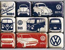 Volkswagen VW Original Ride set of 9 mini fridge magnets    (na)